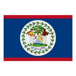 Patriotic poster with Flag of Belize
