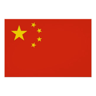 Patriotic poster with Flag of China
