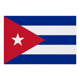 Patriotic poster with Flag of Cuba