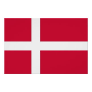 Patriotic poster with Flag of Denmark