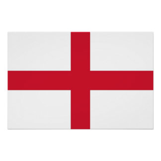 Patriotic poster with Flag of England