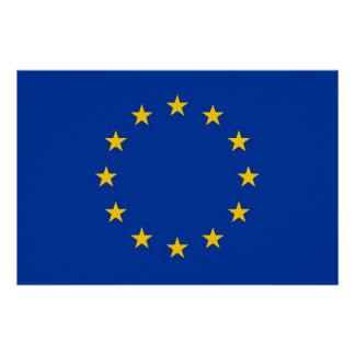 Patriotic poster with Flag of European Union Perfect Poster