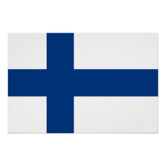 Patriotic poster with Flag of Finland