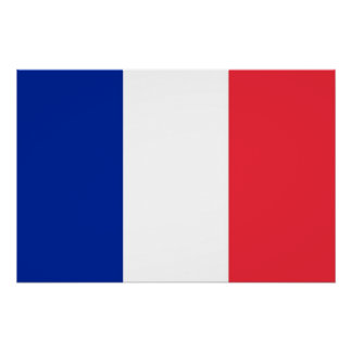 Patriotic poster with Flag of France