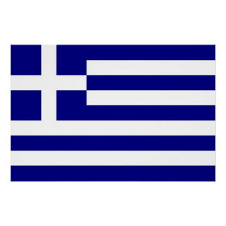 Patriotic poster with Flag of Greece