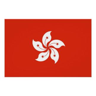 Patriotic poster with Flag of Hong Kong