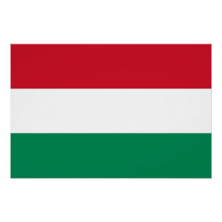 Patriotic poster with Flag of Hungary
