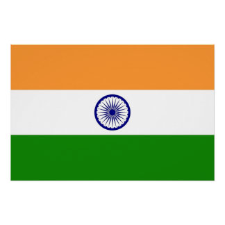 Patriotic poster with Flag of India
