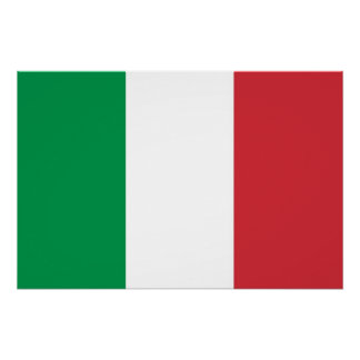 Patriotic poster with Flag of Italy