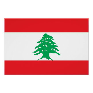 Patriotic poster with Flag of Lebanon
