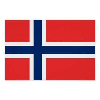 Patriotic poster with Flag of Norway