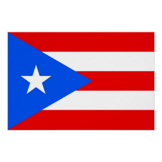 Patriotic poster with Flag of Puerto Rico