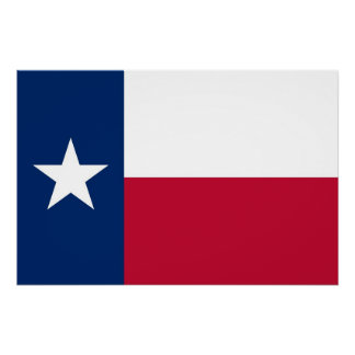 Patriotic poster with Flag of Texas