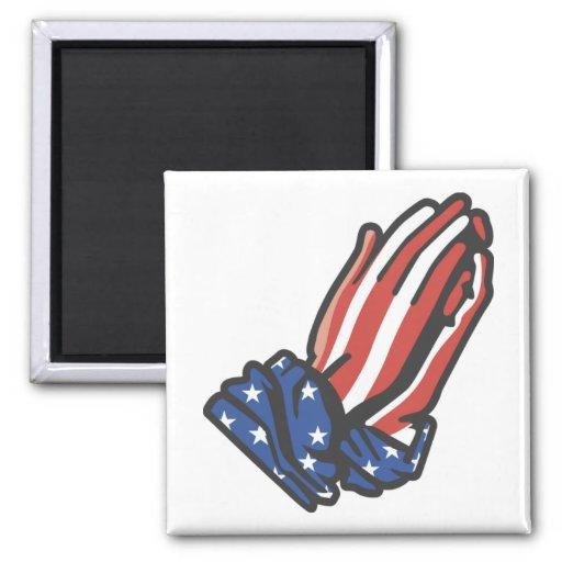 Patriotic Praying Hands Magnets