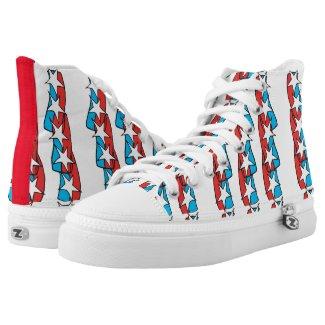 Patriotic Printed Shoes