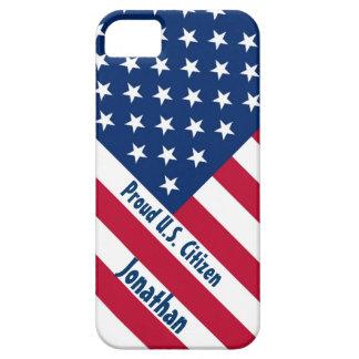 Patriotic Proud U.S. Citizen F504 iPhone 5 Covers