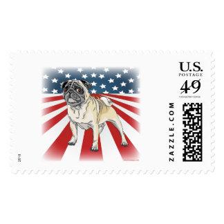 Patriotic Pug Postage