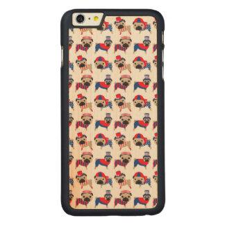 Patriotic Pugs Carved Maple iPhone 6 Plus Slim Case