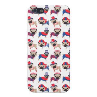 Patriotic Pugs Case For iPhone SE/5/5s