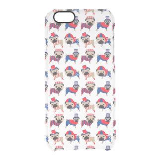 Patriotic Pugs Clear iPhone 6/6S Case
