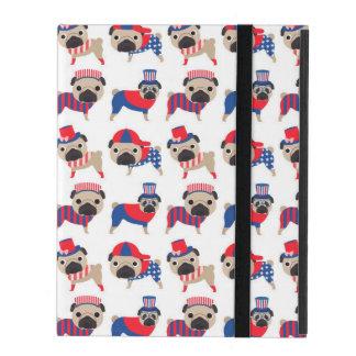 Patriotic Pugs iPad Cover
