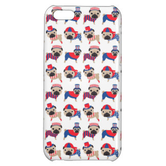 Patriotic Pugs iPhone 5C Cases