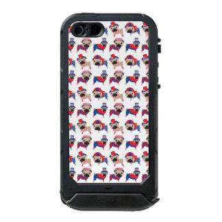 Patriotic Pugs Waterproof iPhone SE/5/5s Case
