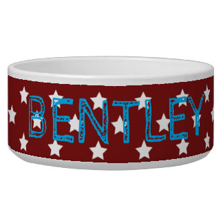 Patriotic Pup Red White and Blue Bowl