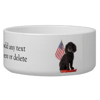 Patriotic Puppy Design Bowl