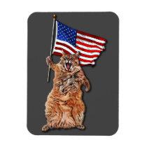 Patriotic Puss 3x4 Magnet