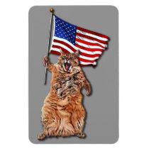 Patriotic Puss 4x6 Magnet