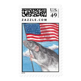 Patriotic Rat Stamps