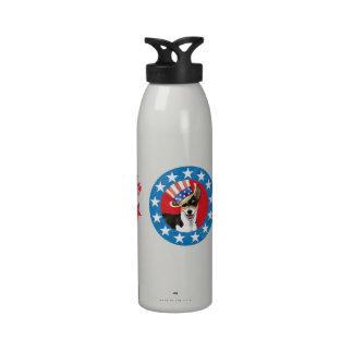 Patriotic Rat Terrier Drinking Bottle