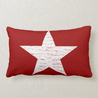Patriotic Red and White Star Throw Pillow