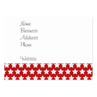 Patriotic Red and White Stars Pattern 4th of July Large Business Cards (Pack Of 100)