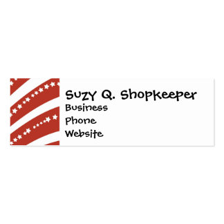 Patriotic Red and White Stars Stripes Freedom Flag Business Card Templates