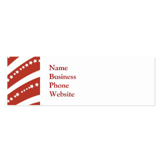 Patriotic Red and White Stars Stripes Freedom Flag Business Card