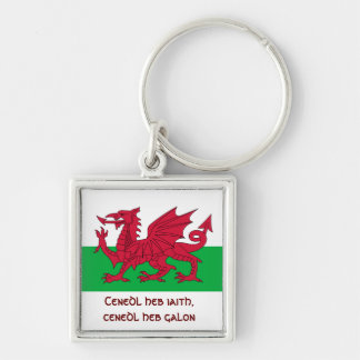 Patriotic Red Dragon Of Wales Keychain