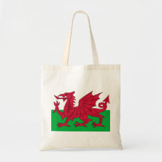 Patriotic Red Dragon Of Wales Tote Bag at Zazzle