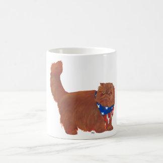Patriotic Red Longhair Persian Cat Coffee Mug