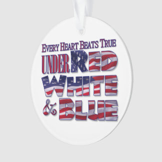 Patriotic Red, White and Blue Flag Typographic Ornament