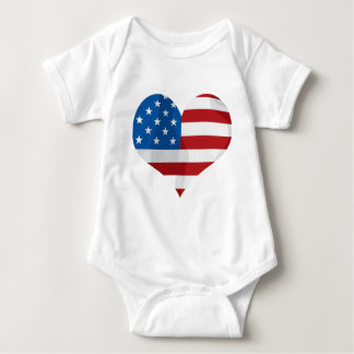 Patriotic Red, White and Blue Heart Tee Shirt