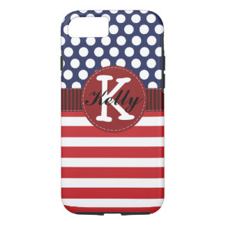Patriotic Red, White, and Blue iPhone 7 Case
