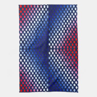 Patriotic, red white and blue pattern hand towel