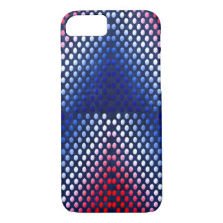 Patriotic, red white and blue pattern phone case