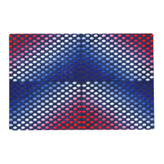 Patriotic, red white and blue pattern placemat