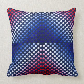 Patriotic, red white and blue pattern Throw pillow