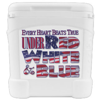 Patriotic Red White and Blue Roller Cooler
