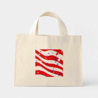 Patriotic Red, White, and Blue Stars & Stripes Mini Tote Bag