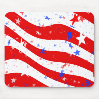 Patriotic Red, White, and Blue Stars & Stripes Mouse Pads